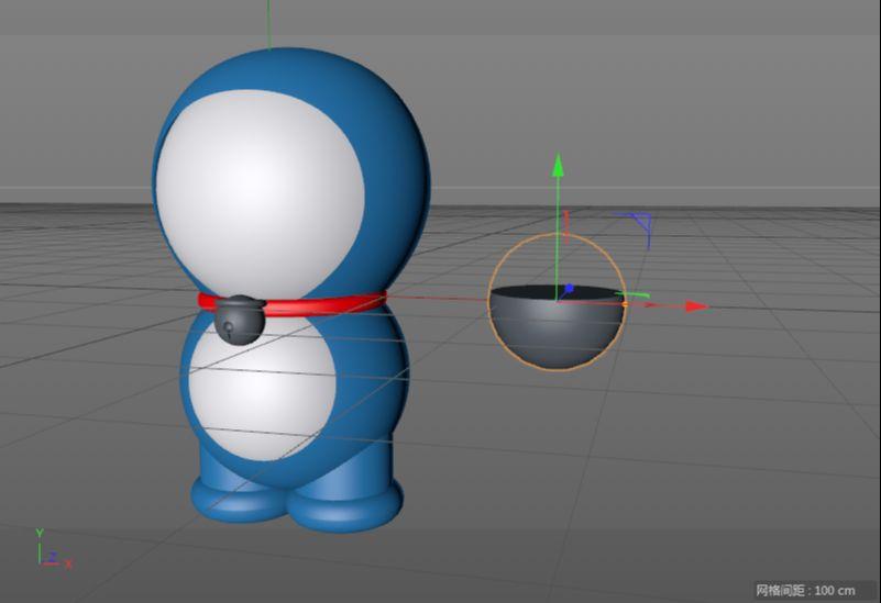 C4D制作机器猫哆啦A梦建模渲染(47)