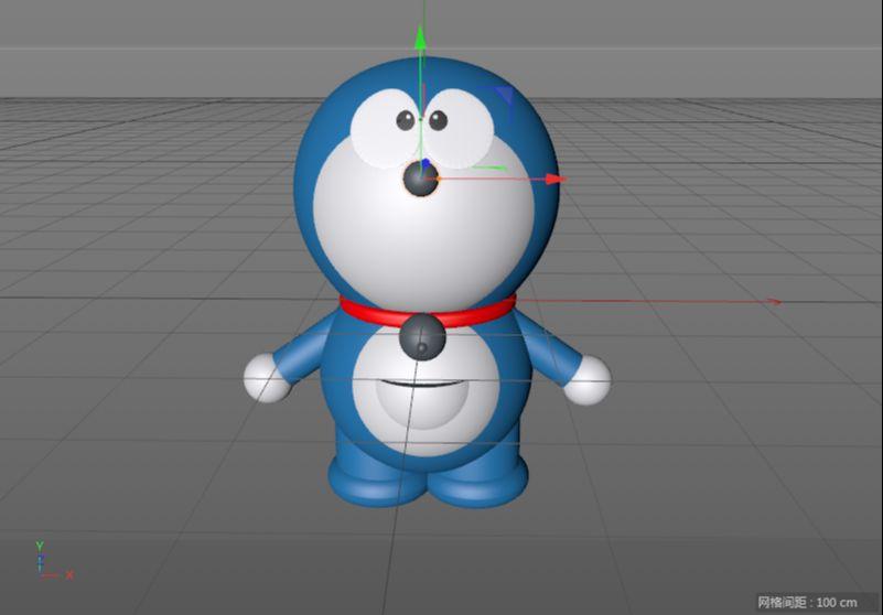 C4D制作机器猫哆啦A梦建模渲染(72)