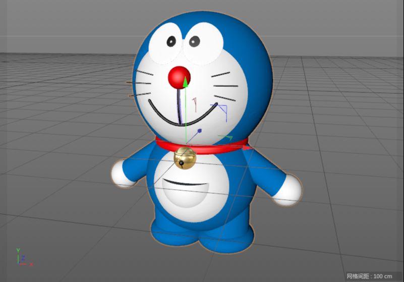 C4D制作机器猫哆啦A梦建模渲染(92)