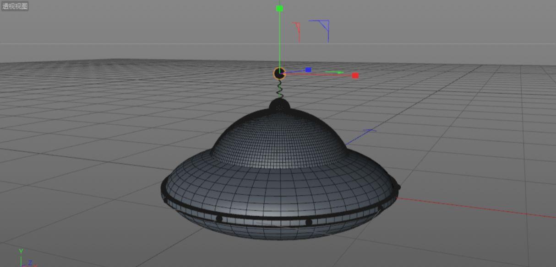 C4D制作小黄人飞碟建模渲染教程(34)