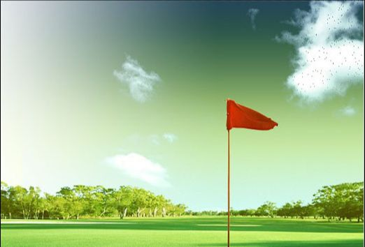Photoshop制作高尔夫邀请赛宣传海报(15)