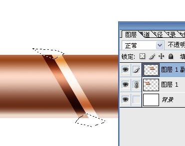 Photoshop制作一条锁链(4)