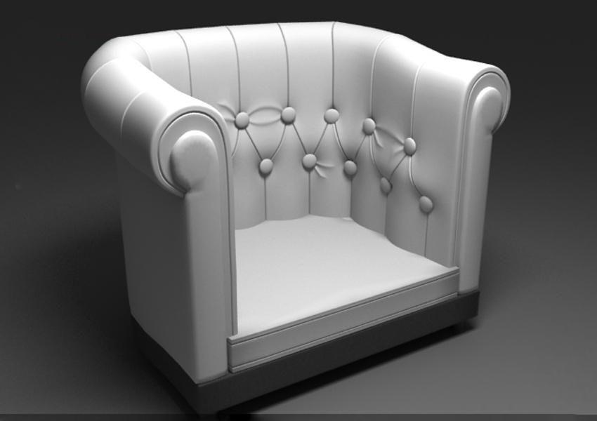 3DSMAX制作欧式沙发
