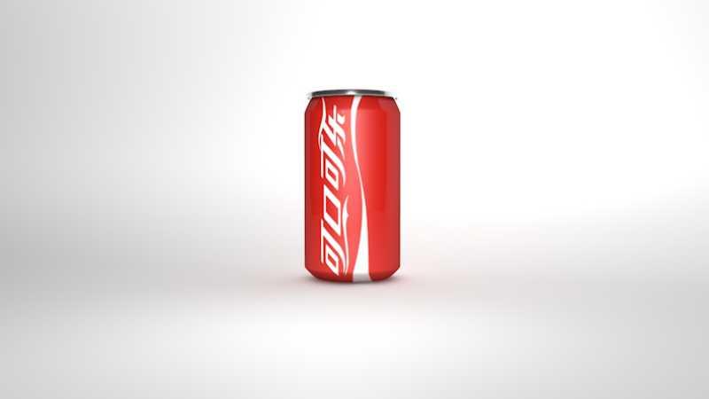 C4D制作逼真的可口可乐易拉罐模型