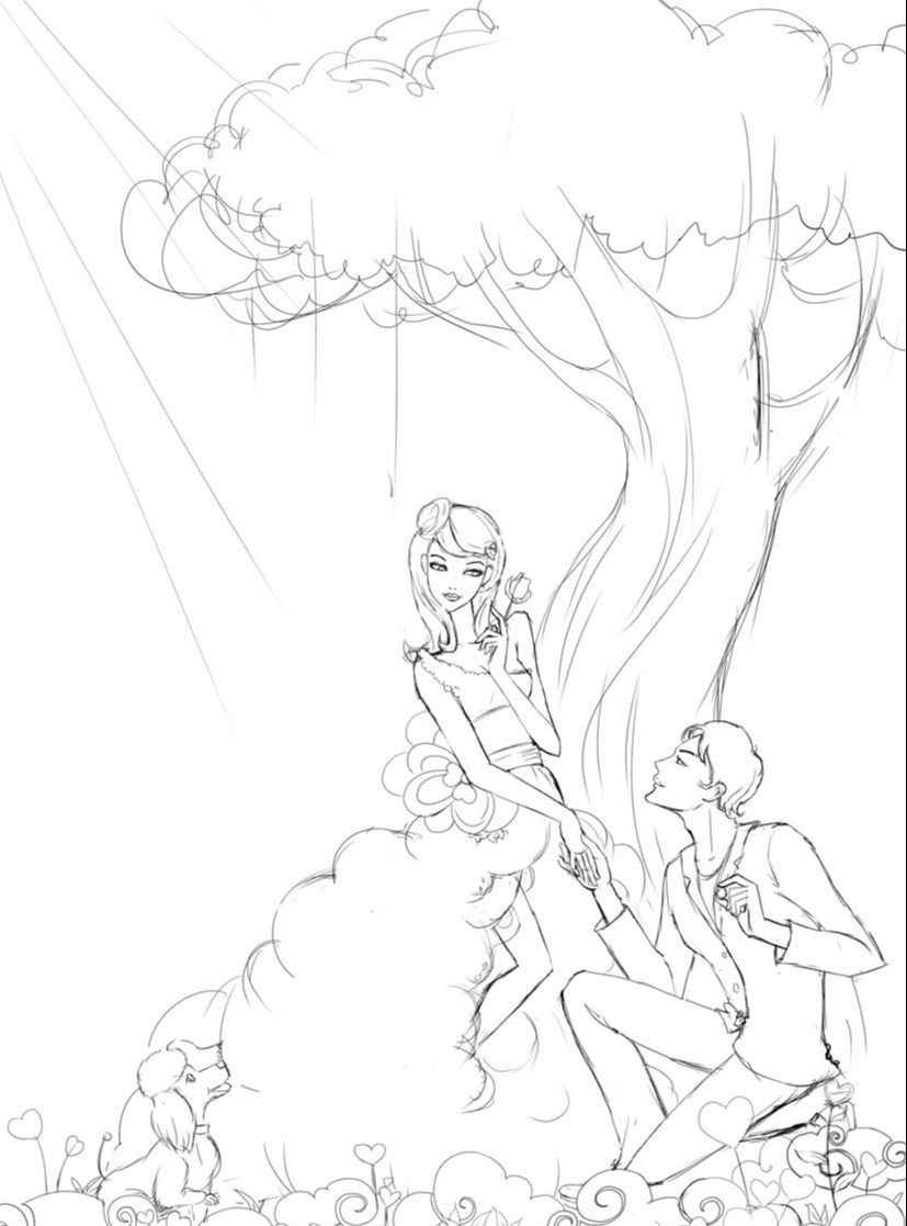 AI绘制誓约树下的爱情插画教程(1)