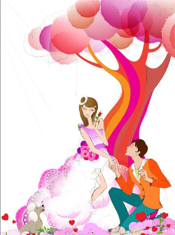AI绘制誓约树下的爱情插画教程(5)