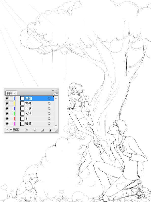AI绘制誓约树下的爱情插画教程(2)