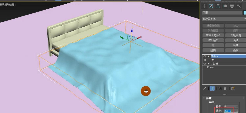 如何用3dmax的Cloth功能制作床罩(22)