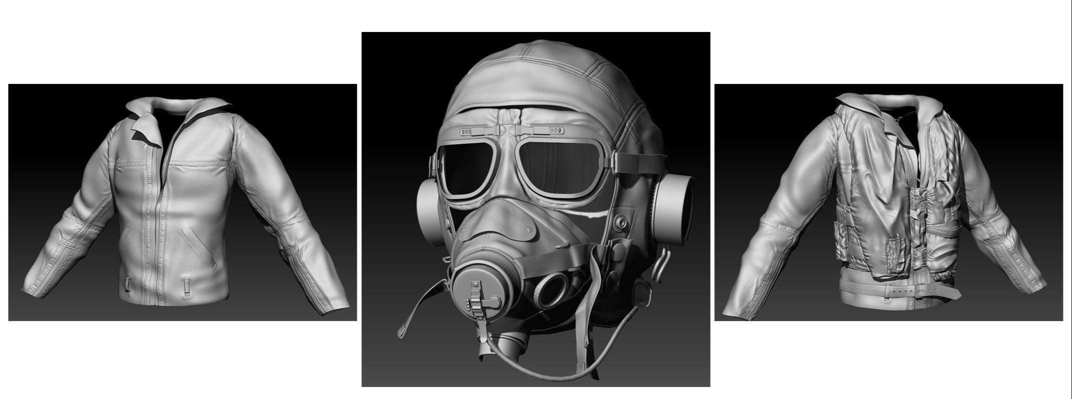 Maya制作第二次世界大战飞行员教程(4)
