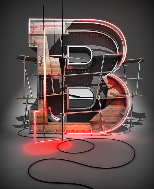 Cinema 4D打造有创意的立体数字