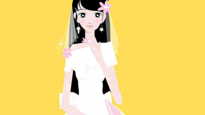 AI绘制卡通新娘