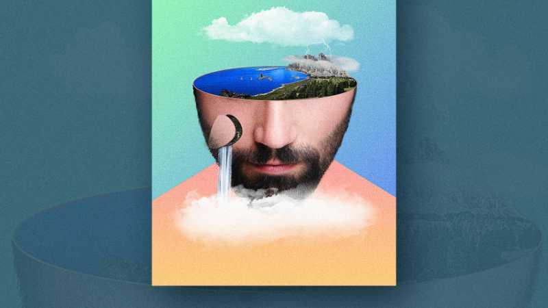 PS制作脑洞大开的人像自然合成海报
