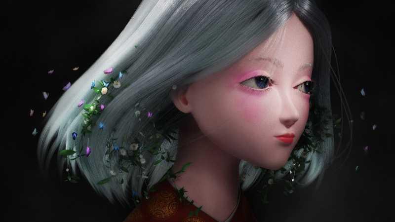 3ds max在Blender中制作森系少女