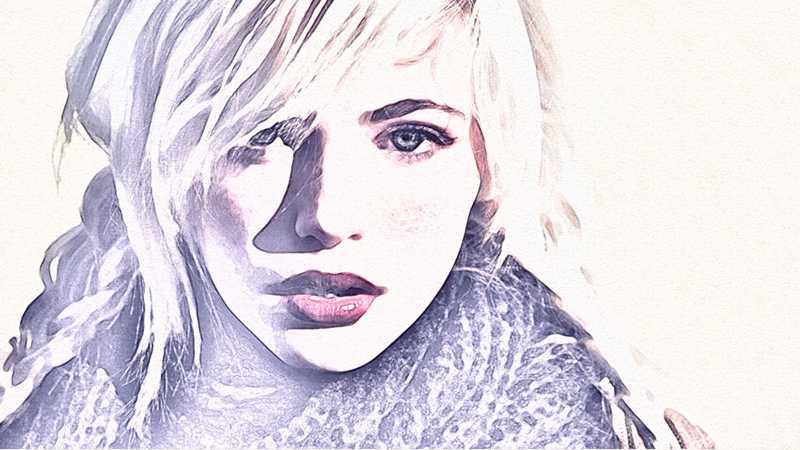 用PS快速将人物照片转为素描肖像