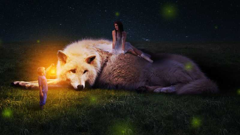 PS合成美女与野兽的唯美场景