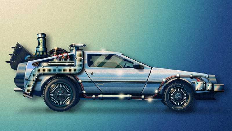 PS绘制轻拟物风格炫酷汽车噪点插画
