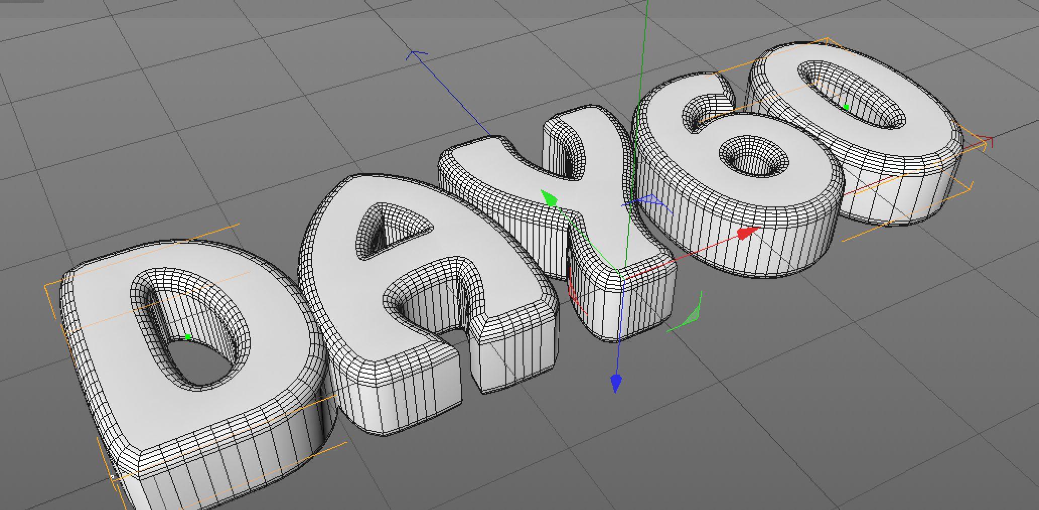 C4D制作创意奶油文字效果教程(4)