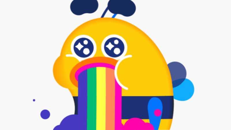 AE+AI制作吐彩虹的蜜蜂动态图
