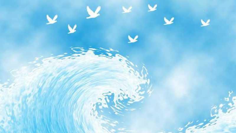 photoshop制作卡通海浪的方法