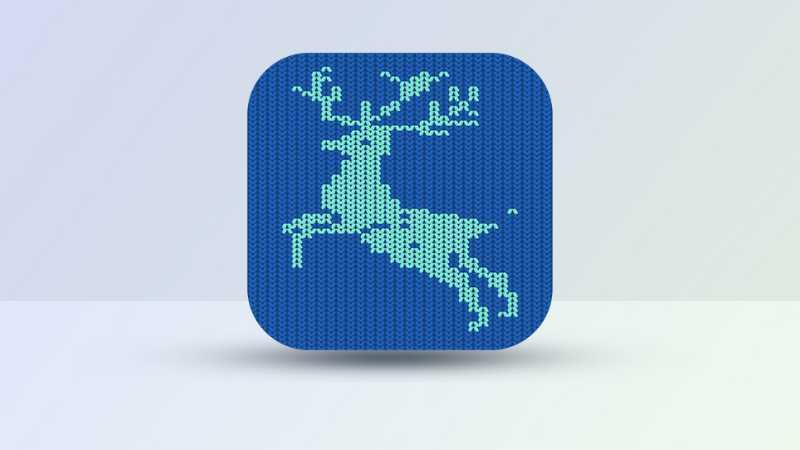 AI打造温暖的鹿形织物图标