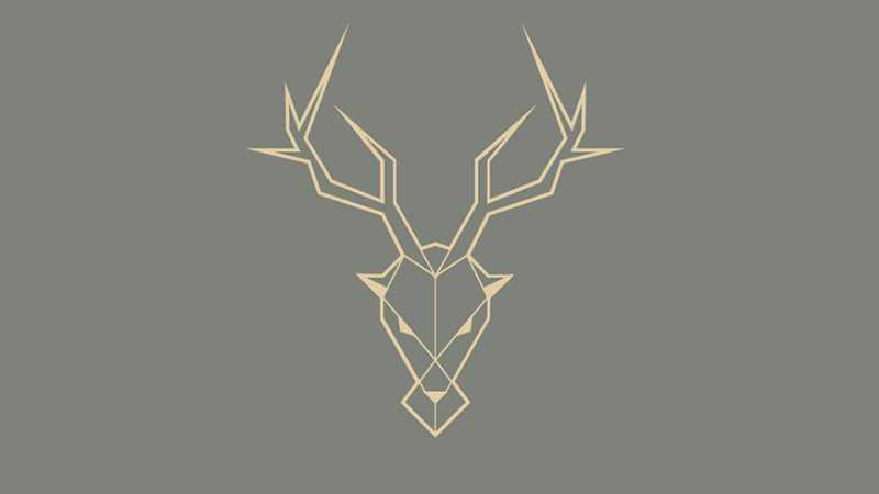 AI制作几何风格鹿Logo