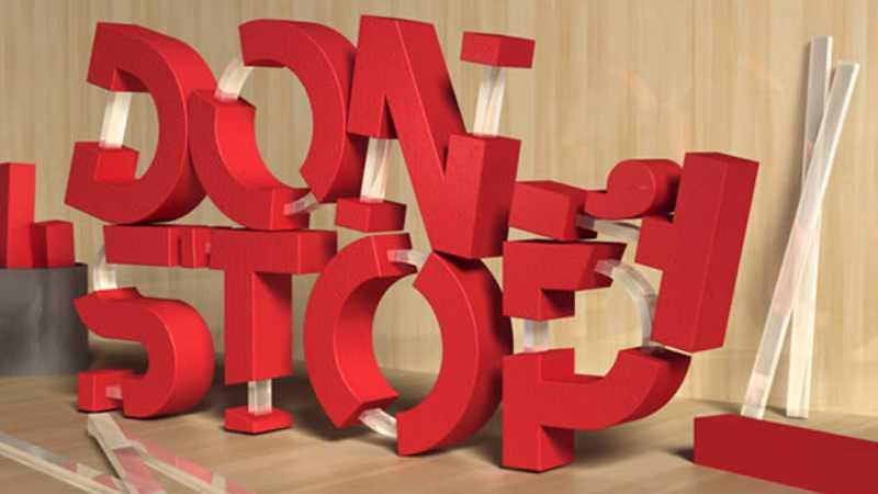 PS制作橡胶和玻璃质感的3D立体字效
