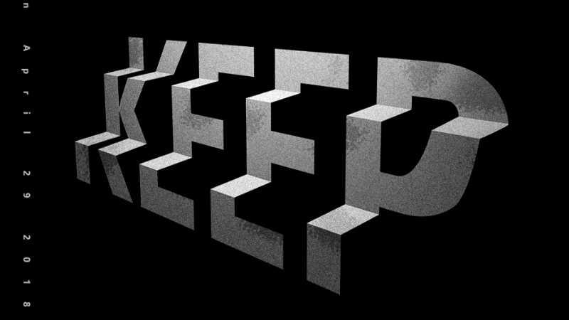 C4D+PS快速制作一幅阶梯文字海报
