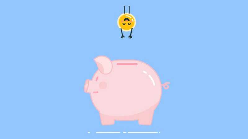 AE+AI制作可爱的小猪存钱罐动效
