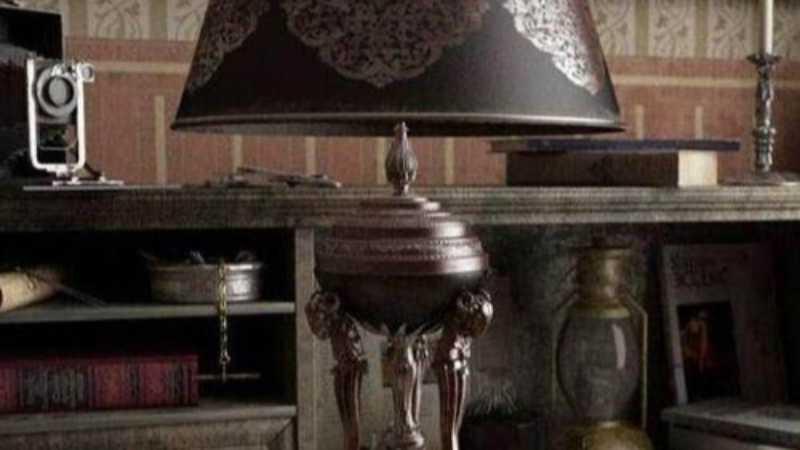 maya制作复古台灯