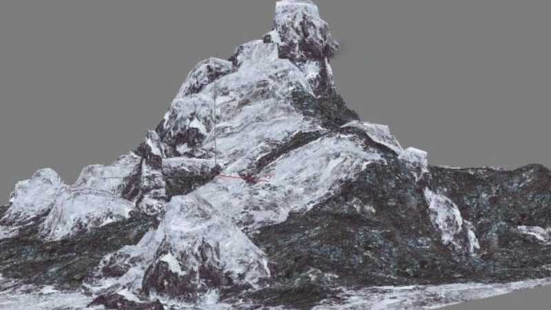 3DMAX打造真实雪山