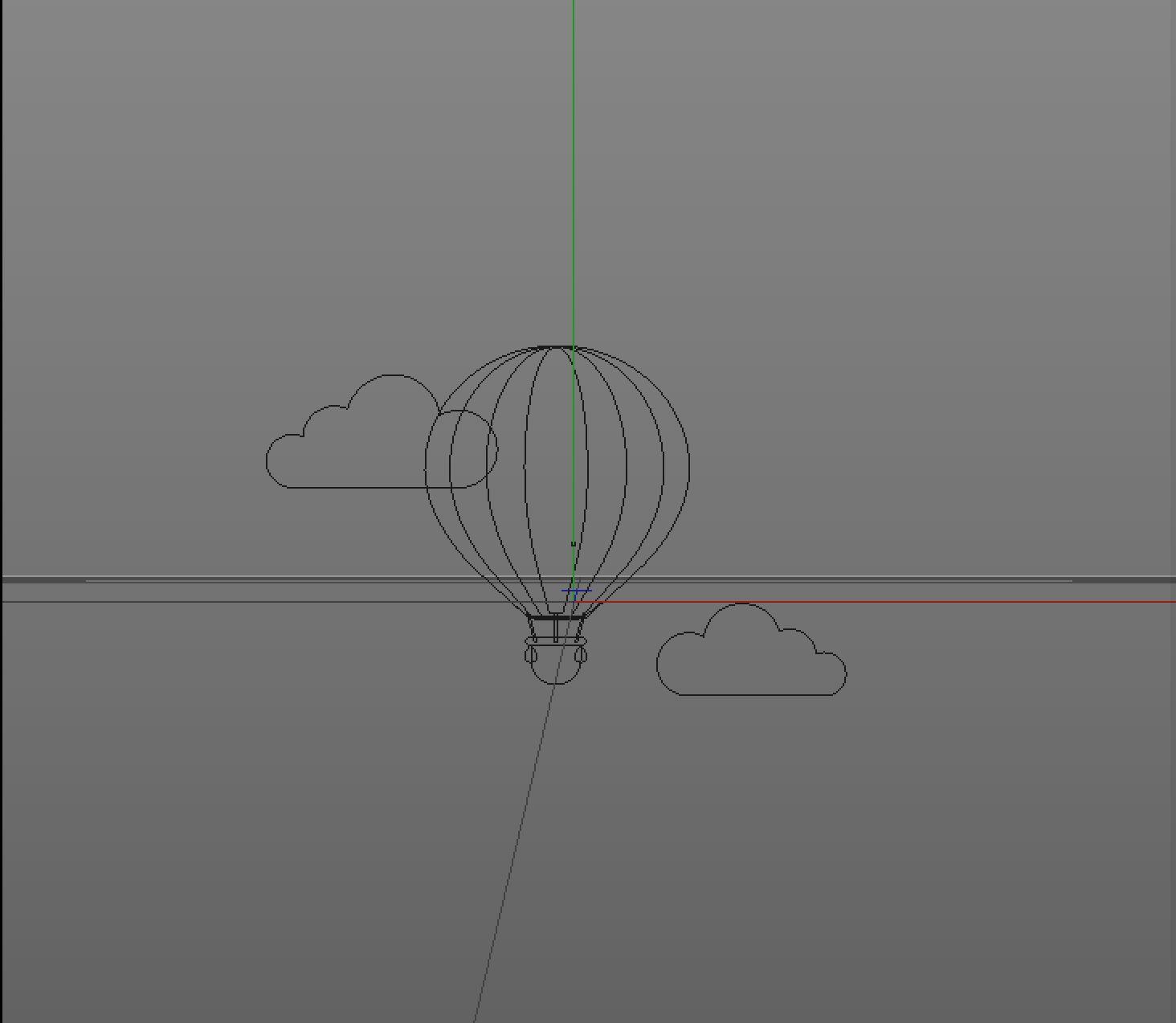 待改-C4D简单制作剪纸效果小插画(1)