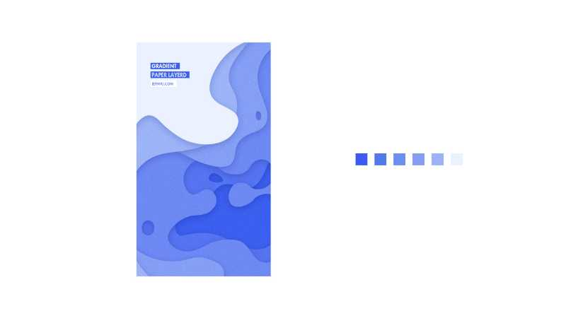 AI+PS制作阶梯渐变抽象纸艺图案
