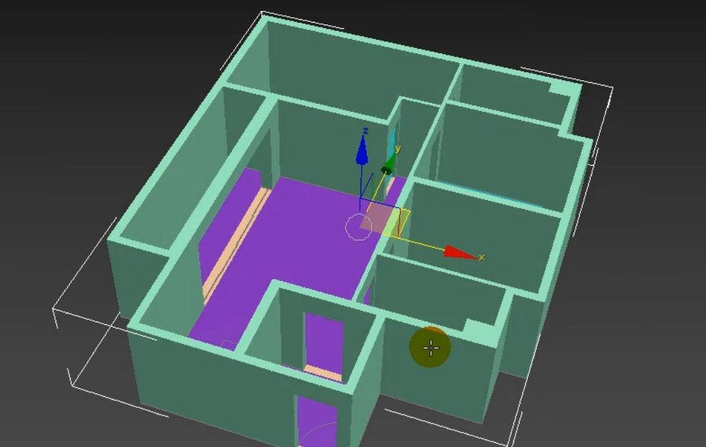 如何用3dmax根据CAD图纸制作户型图(27)
