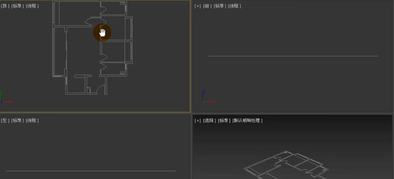 如何用3dmax根据CAD图纸制作户型图(4)
