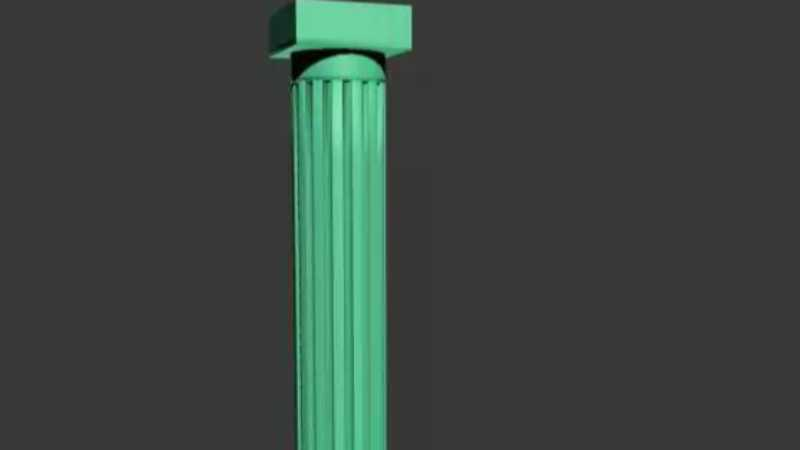 3Dmax放样建模制作罗马柱模型教程