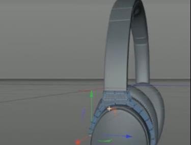 C4D头戴式耳机建模教程(6)