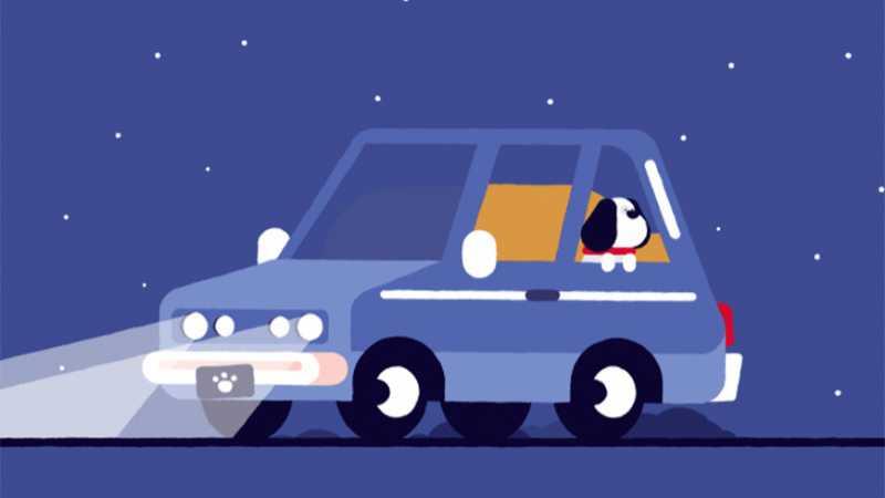 AE+AI制作可爱小狗狗汽车动效