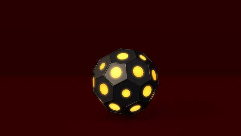 c4d发光立体多边形快速建模的方法