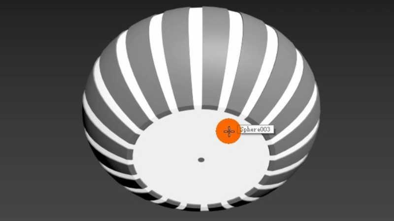 3dmax多边形制作简约儿童房吸顶灯