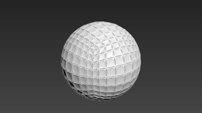 3DMax快速制作高尔夫球模型的教程