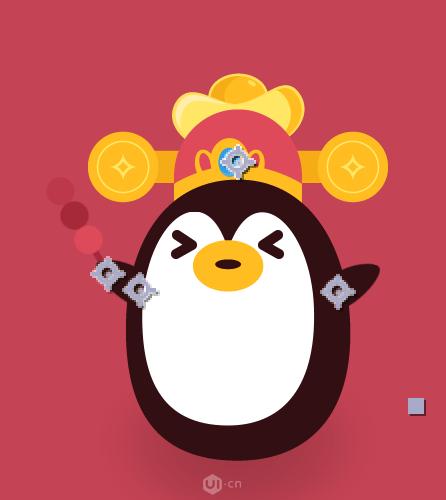 AE制作QQ小企鹅动效教程(4)