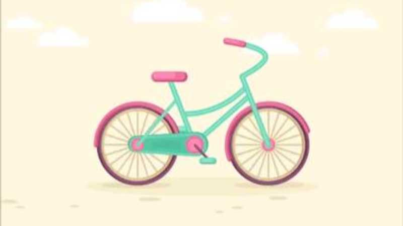 AE制作彩色自行车动画