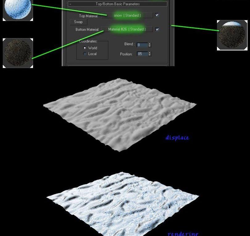 待改-3dmax制作真实的雪材质(5)
