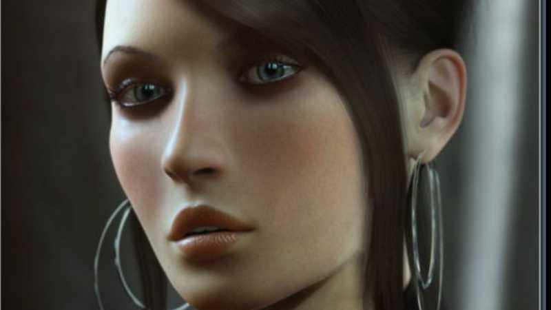 3D MAX女性角色模型建模教程