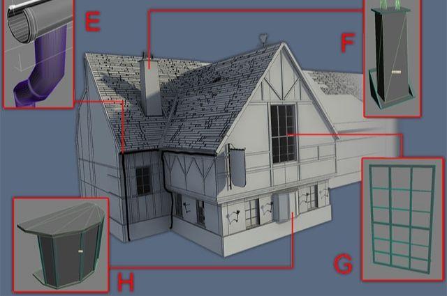 3D Max制作怀旧老屋建模教程(3)