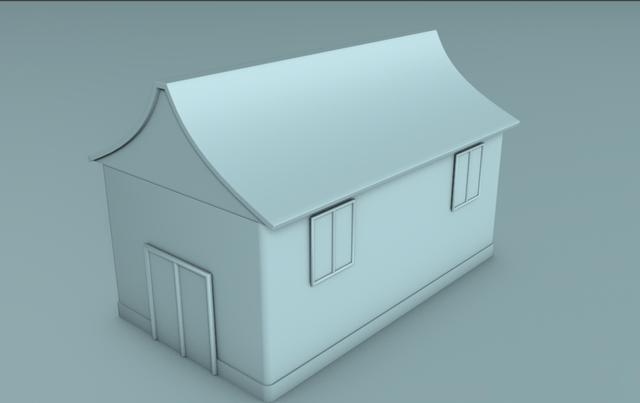 c4d简单房子建模教程(15)
