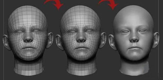 3DMAX制作忧愁女孩建模教程(1)
