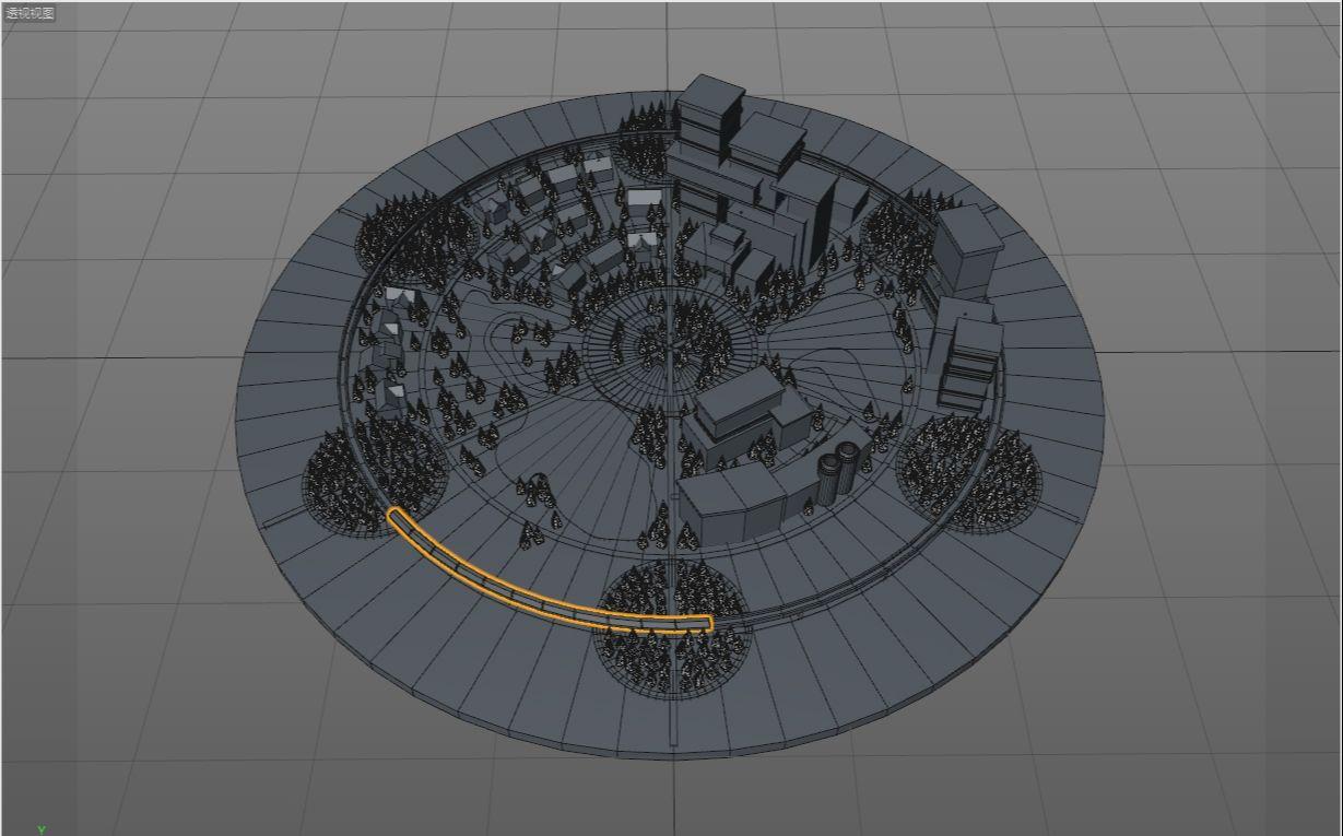 待改-C4D制作LOW POLY城市场景教程(19)