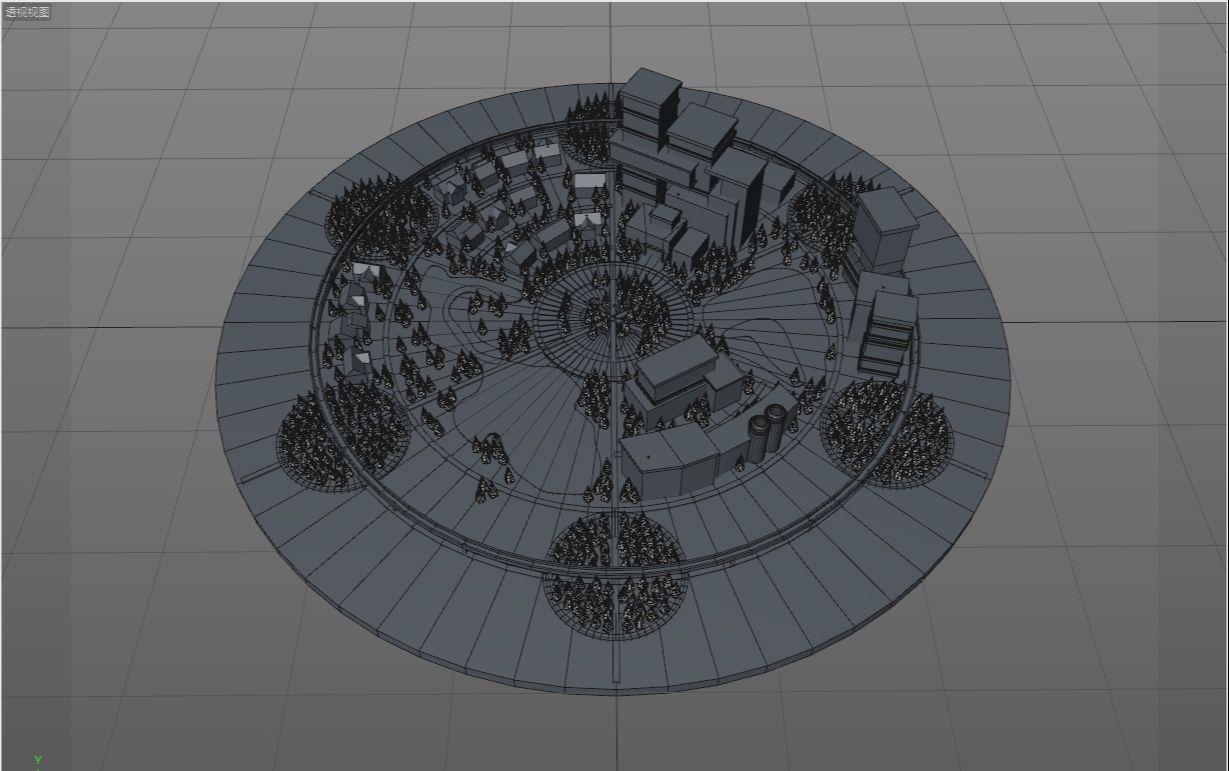 待改-C4D制作LOW POLY城市场景教程(17)