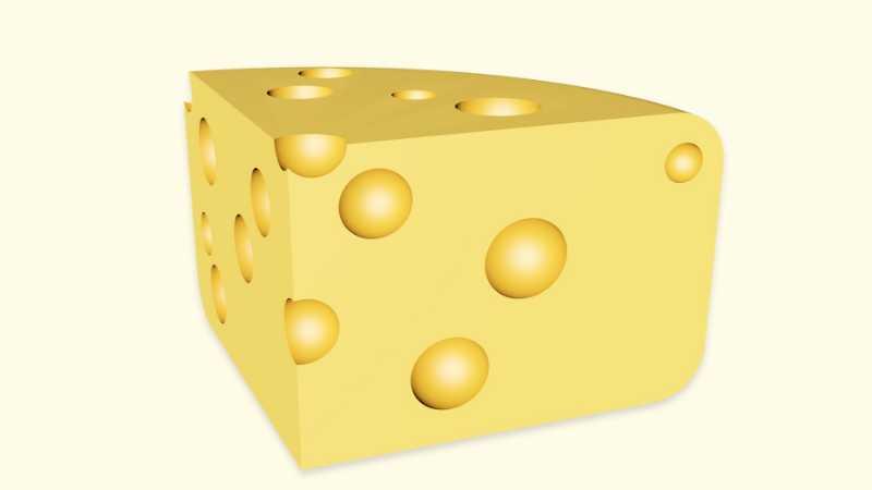 C4D制作奶酪建模教程